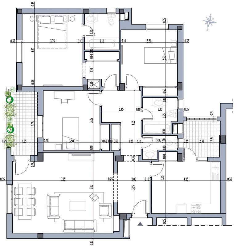Vente appartement s 2 r sdience haut standing el ghazela - Residence de haut standing rubio ...